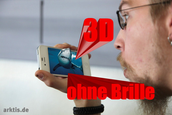 3D ohne Brille, das 3D Upgrade Kit für iPhone