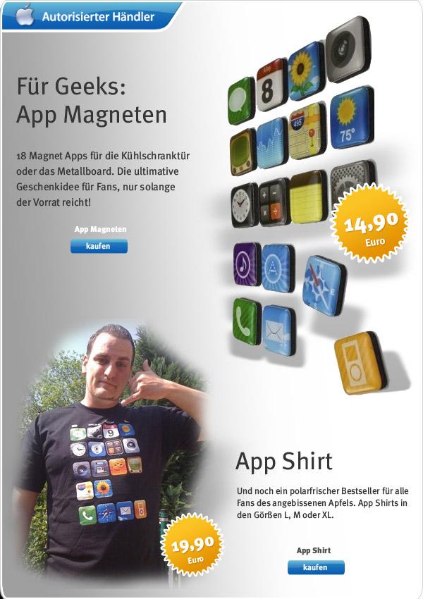 App Magnets und App Shirt