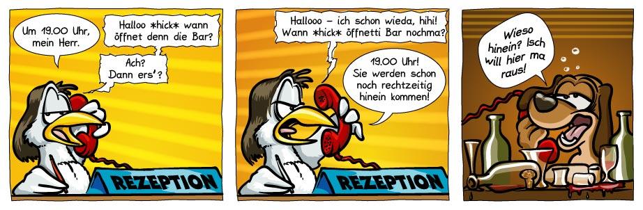 Neues aus dem Beachclub - Cartoon von Daniel Kintrup via Streifenfabrik.de