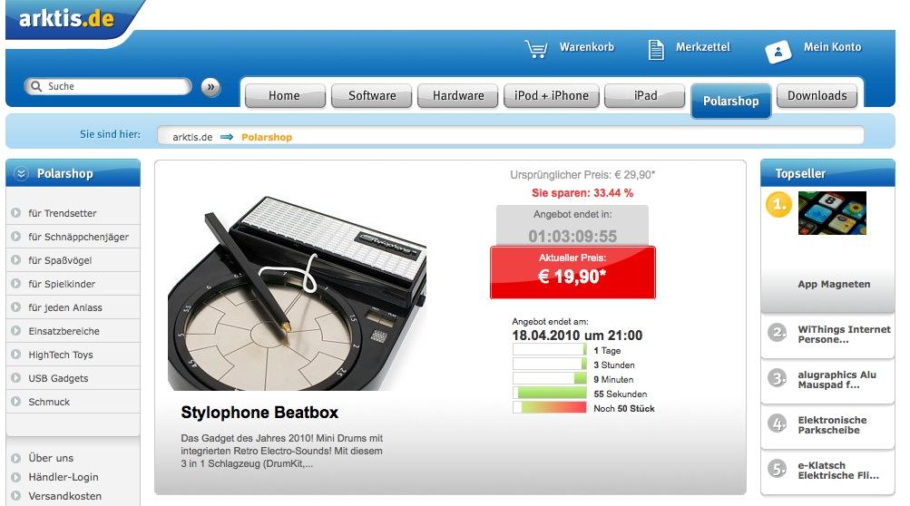 Der Countdown läuft! Das neue Liveshopping auf arktis.de !