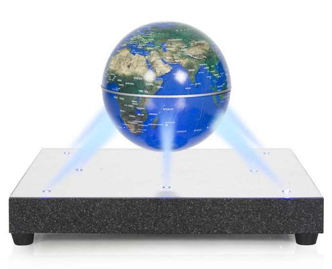 Die Levitron World Stage Anty-Gravity Platform bringt Dinge zum Schweben.