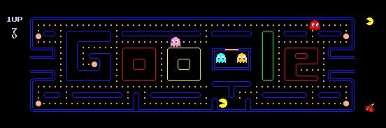 Das Google Logo ist heute ein Pac Man Spiel!