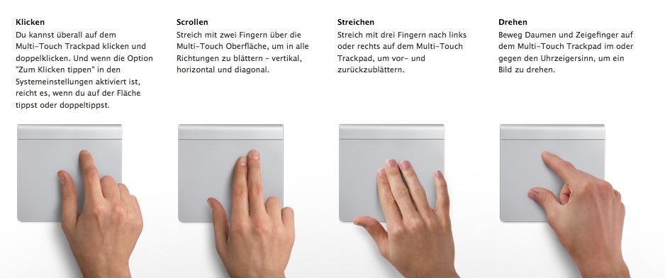 Geniale Gestensteuerung mit dem Magic Trackpad
