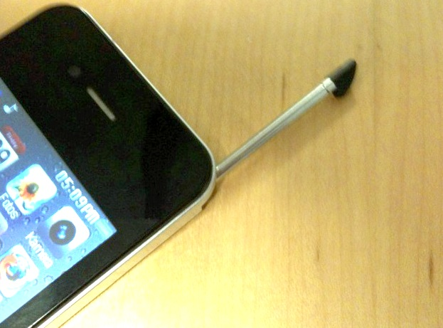 iPhone 4 mit integriertem Touchpen? Coole Idee, aber...