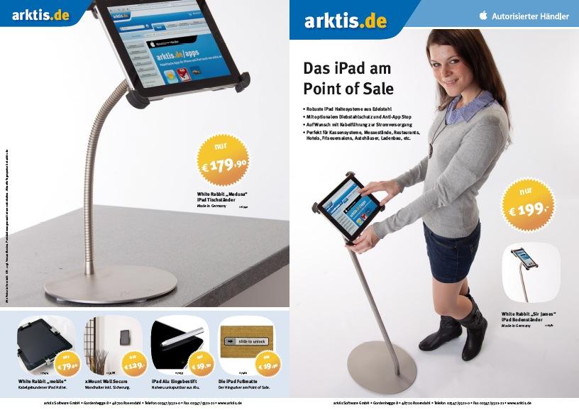 PDF-Flyer mit iPad Spezialzubehör: Das iPad am Point of Sale