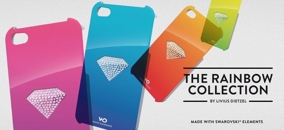 Edle iPhone 4 Hüllen von White Diamonds mit Swarovski Kristallen besetzt.