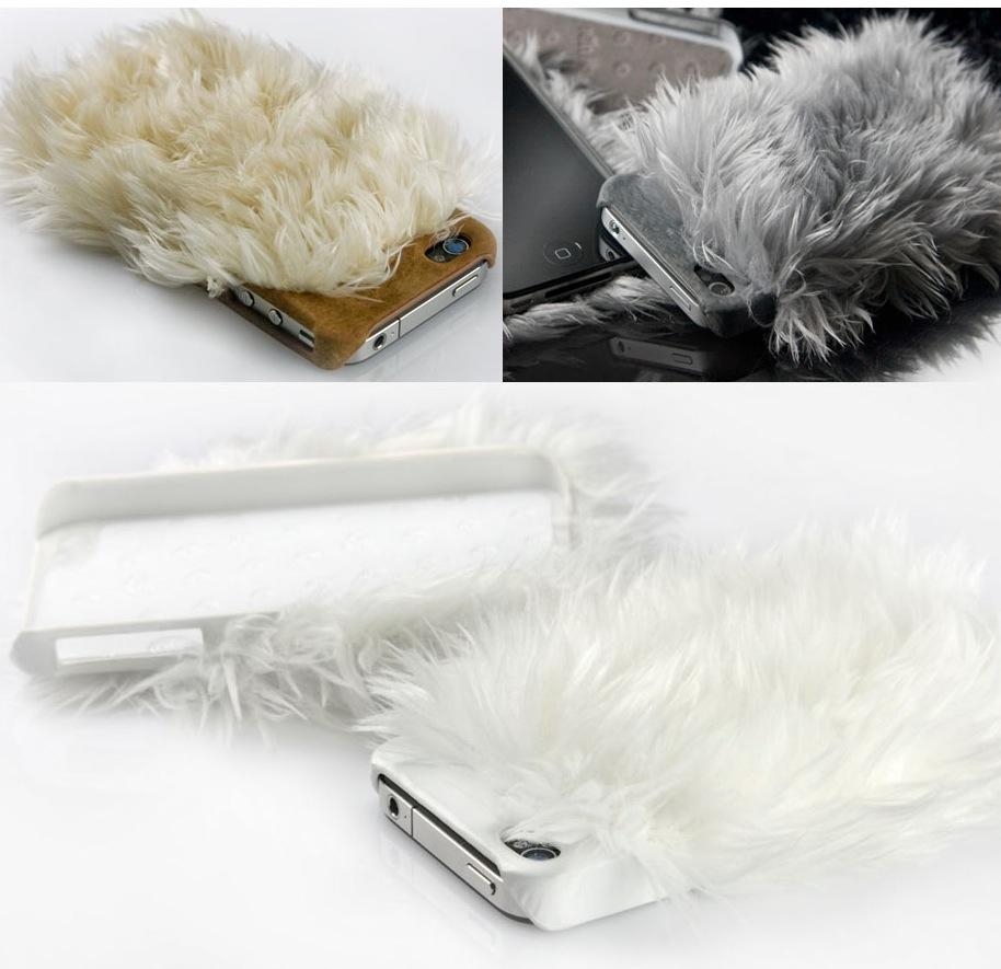 Geschmacklich sehr bedenklich: Die iPhone 4 Monster Fur Cover