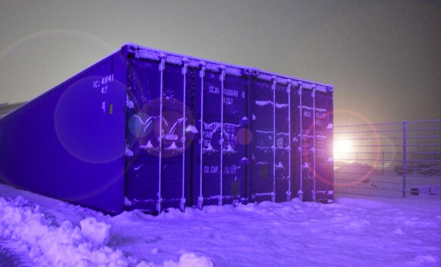 Nein, keine Polarstation. Es sind bloß unsere Lagercontainer...