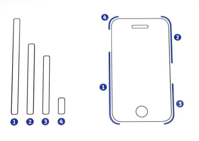 Final Grip 4 Schutzfolie für das iPhone 4 Metallband