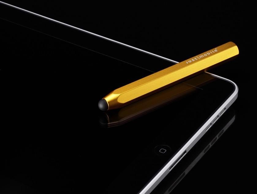 Besonders cool, der goldene AluPen aus einem Stück Aluminium gefertigt.