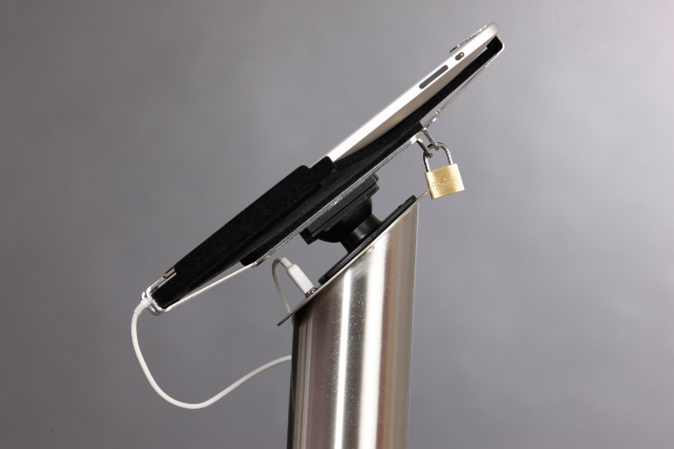 iPad Bodenständer inkl. Stromversorgung und Diebstahlschutz