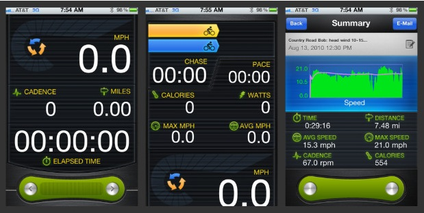 Die App zeigt alle Daten übersichtlich an, wahlweise in MPH oder in Stundenkilometern.