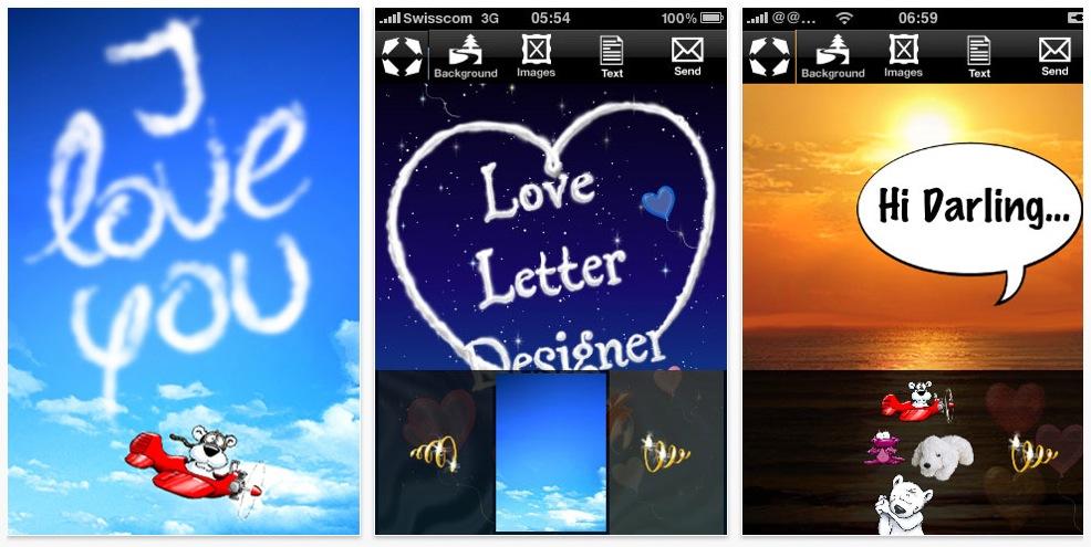 Heute kostenlos: Loveletter Designer iPhone App