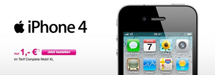 iPhone 4 nur 1,- Euro
