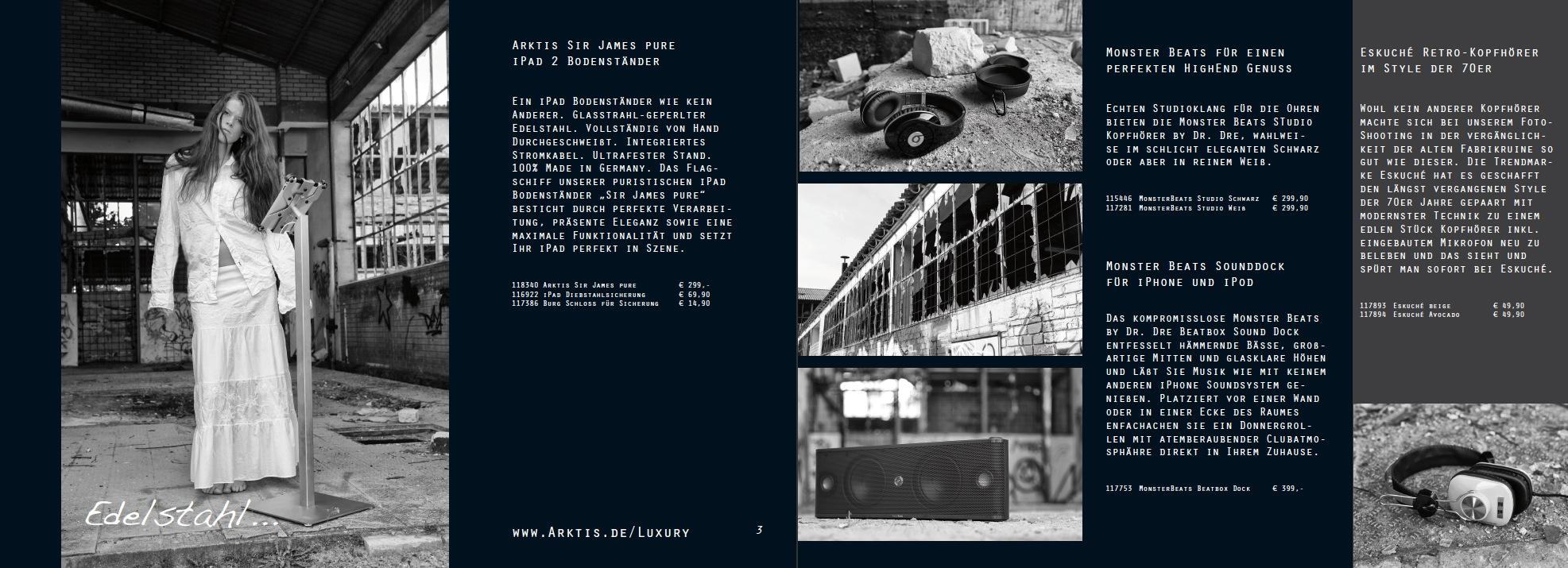 Jetzt gratis den neuen Arktis Luxury Katalog als PDF laden.