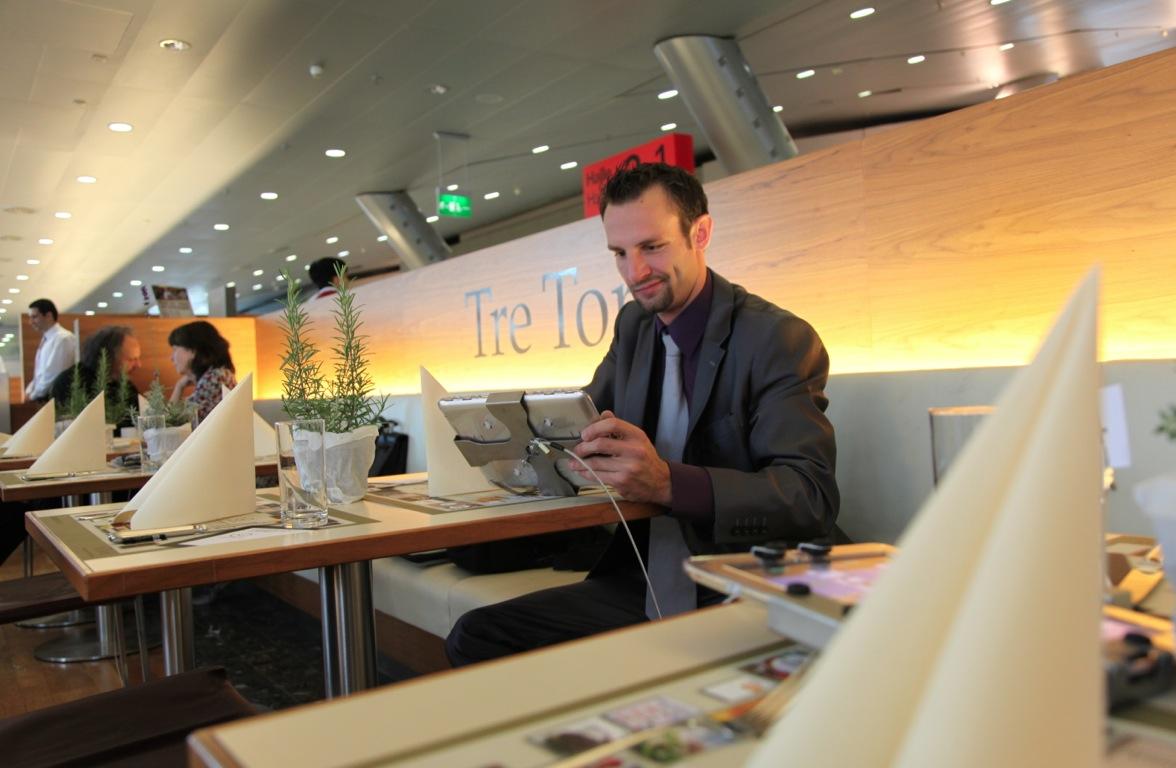 Tre Torri iPad Restaurant, powered by arktis.de