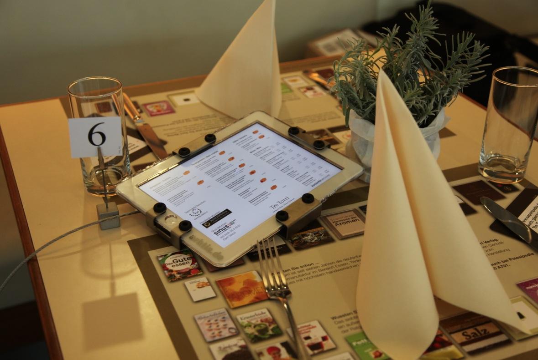 Gourmetküche mit iPad, powered by arktis.de
