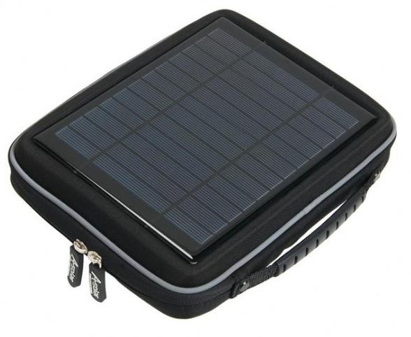 Edel und inkl. Solarzelle, das A-Solar Power Case für iPad