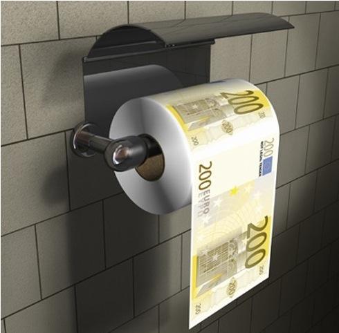 Voll für´n A..... das Euroschein Toilettenpapier