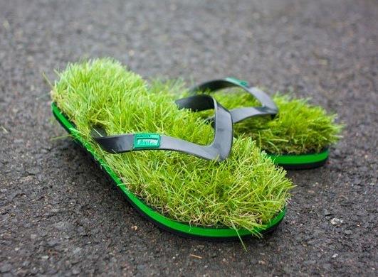 Flip Flops mit Rasen