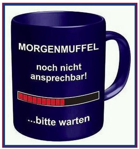 Kaffeebecher für Morgenmuffel
