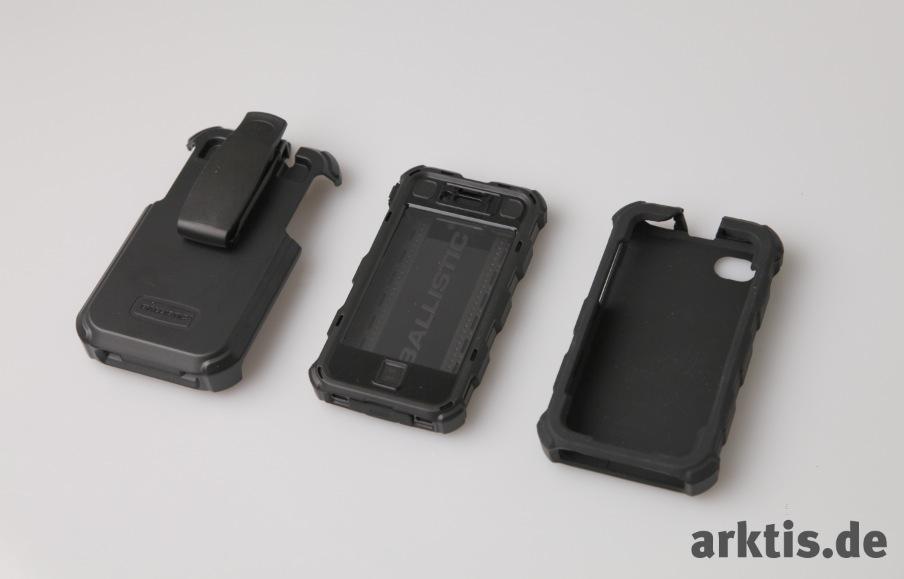 Das Ballistic Hard Core Case für iPhone besteht aus 3 Einzelelementen