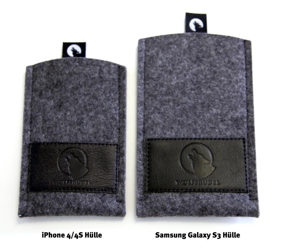 Größenvergleich iPhone 4/4S Hülle zu Samsung Galaxy S3 Hülle