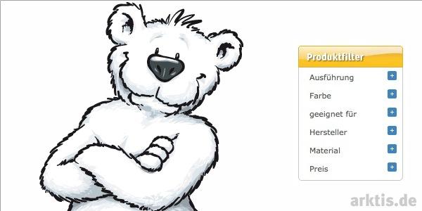 Der neue arktis.de Produktfilter ist online