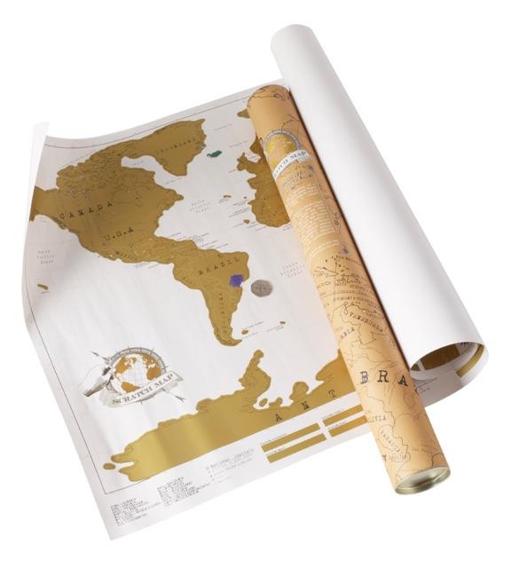 Cooles Gadget, die Landkarte zum frei Rubbeln