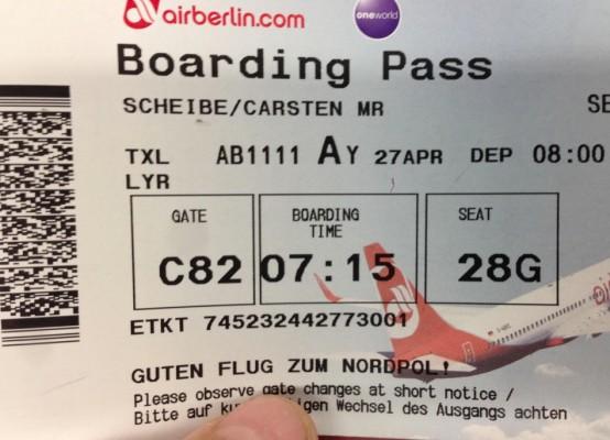 Tickets zum Nordpol