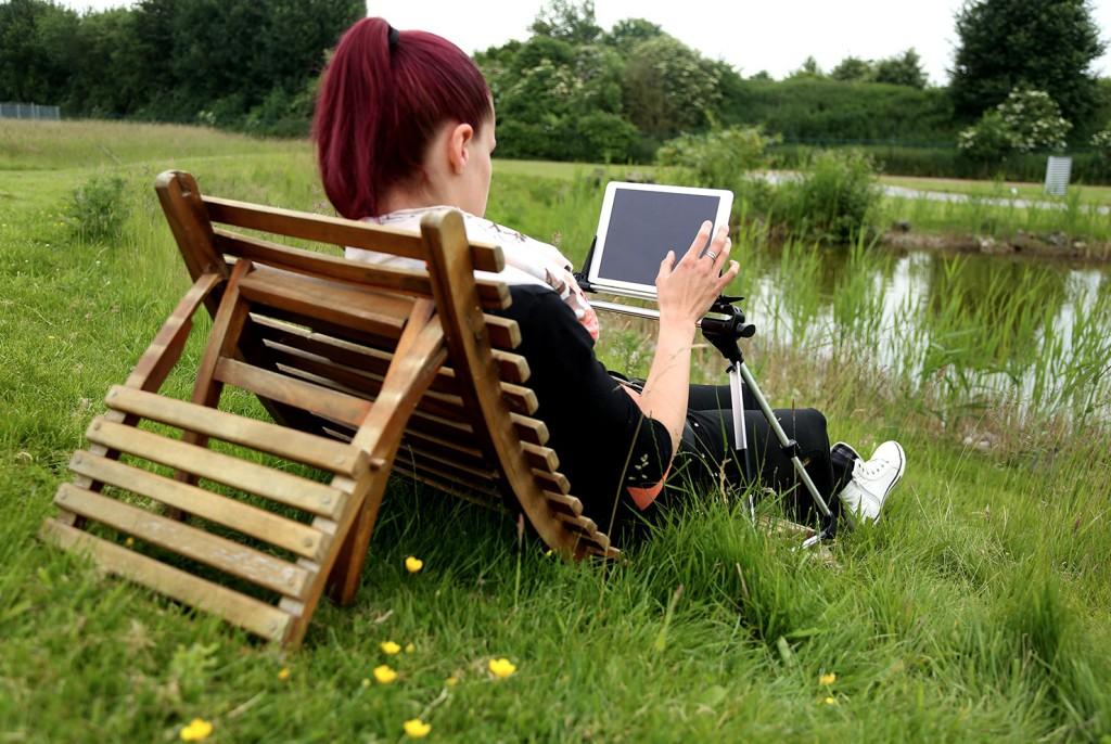Tabletissimo iPad Ständer im Outdoor Einsatz