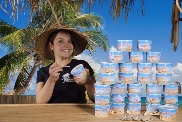 Original Schlecks Eis aus Osnabrück an der Arktis Beachbar