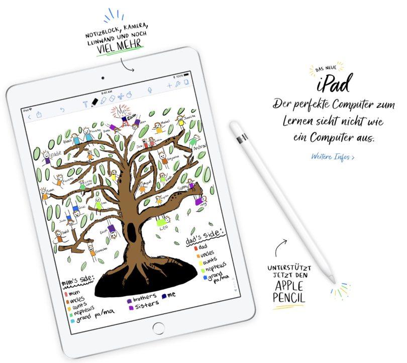 """Das neue Apple iPad 9,7"""" - günstiger und mit Apple Pencil Support"""