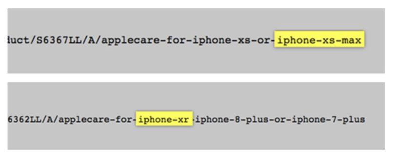 Eindeutige Hinweise auf die Namen der neuen iPhones auf der Apple Seite