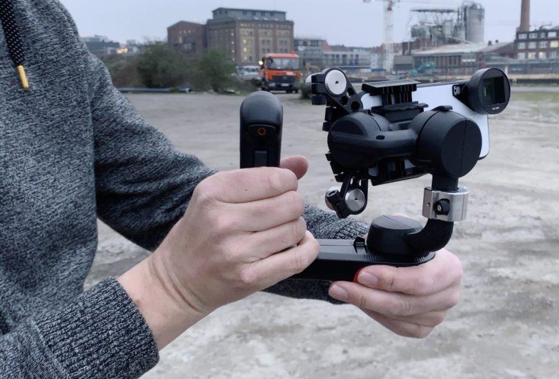 FreeFly MOVI Gimbal mit Gegengewichten und iPhone Anamorphic Lens