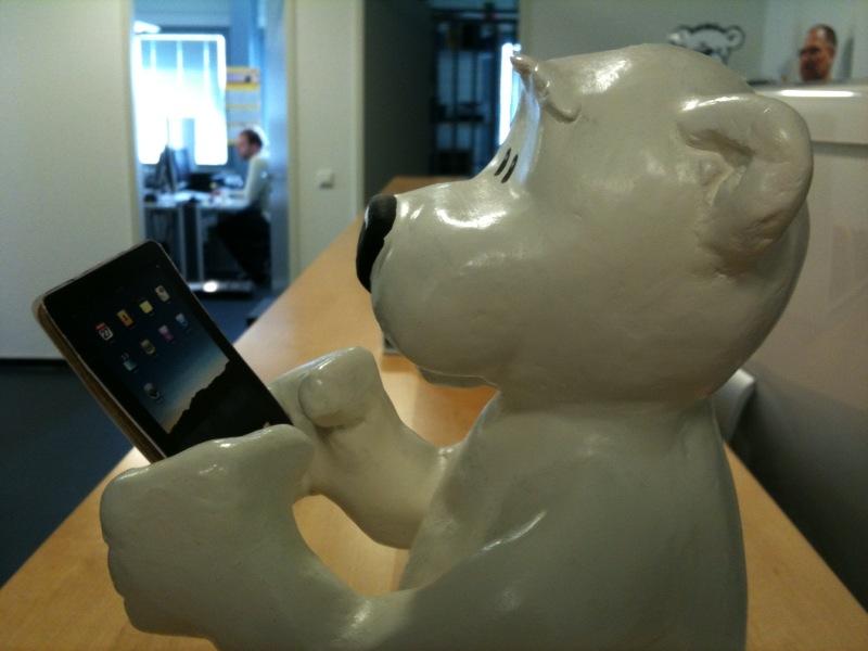 Arik unser Arktisbär hat natürlich auch sein eigenes iPad