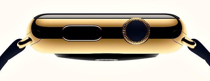 Das Gehäuse der Apple Watch Edition besitzt ein Gehäuse aus 18 Karat Gold!