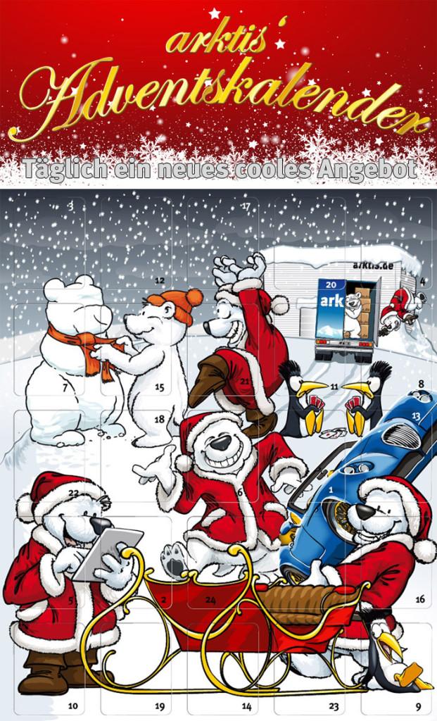 Der arktis.de Adventskalender - noch sind alle Türchen geschlossen...