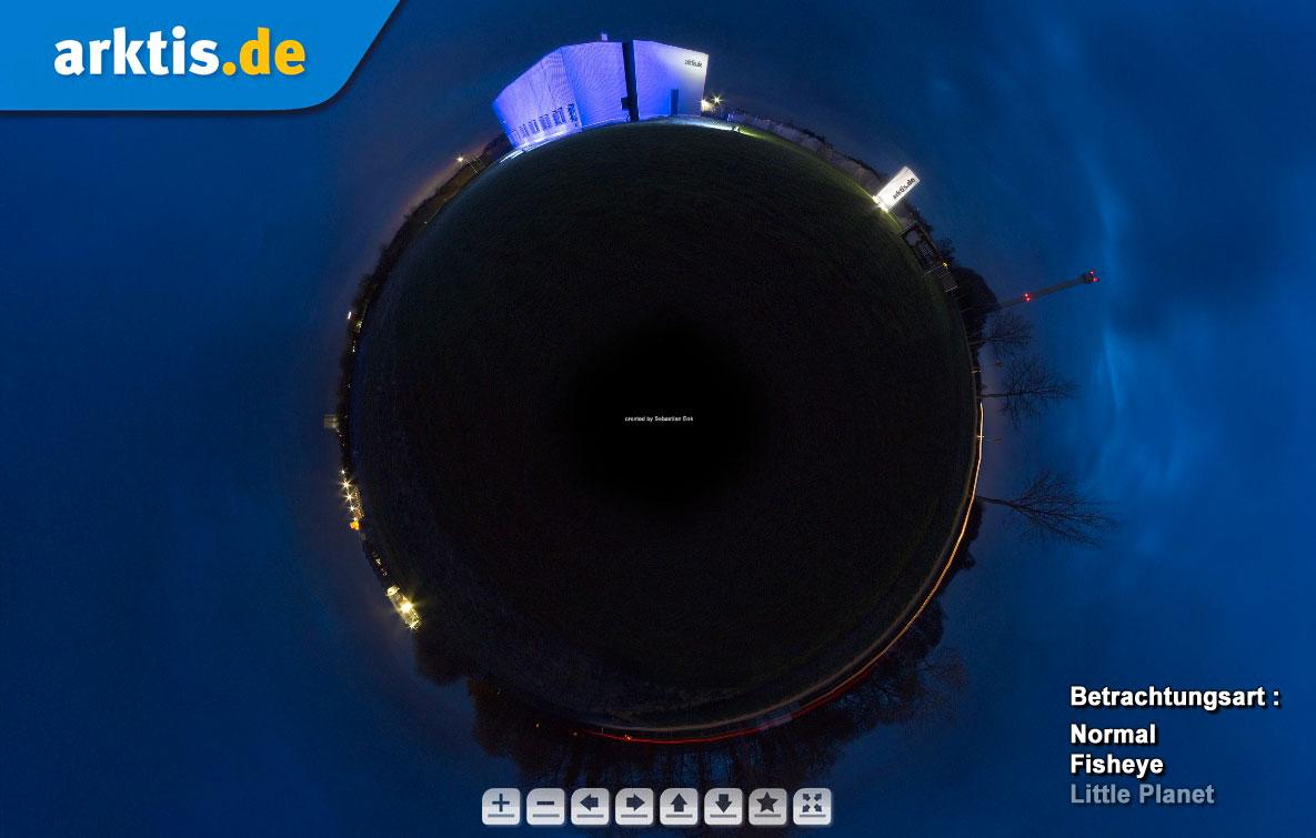 Einfach Bild anklicken um die 360 Grad arktis.de Panoramatour zu starten.