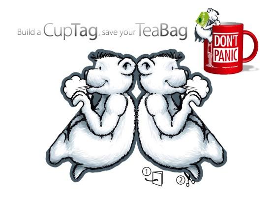 Bastelbogen für Teefreunde