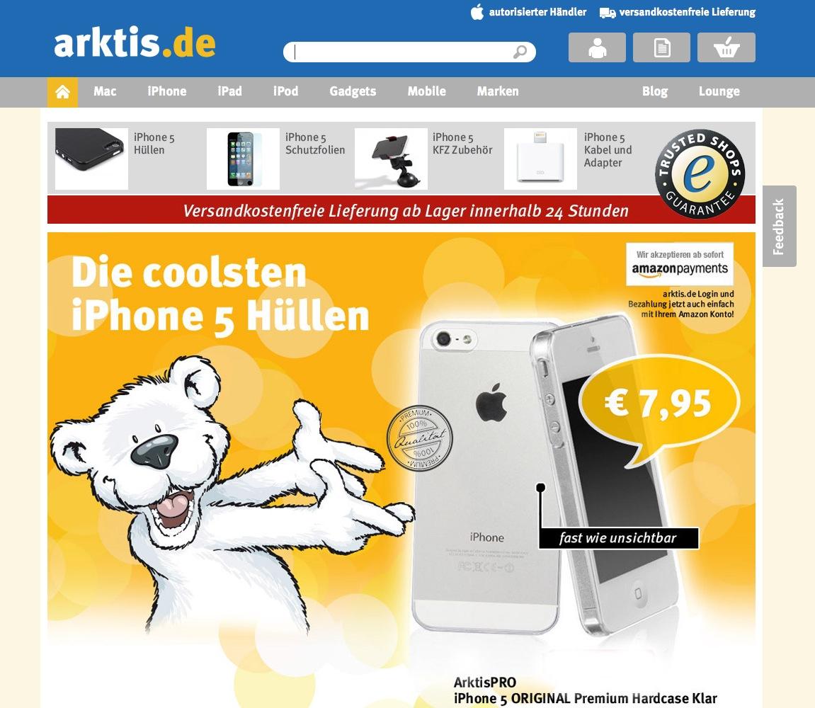 Bunte Einkaufswelten auf arktis.de
