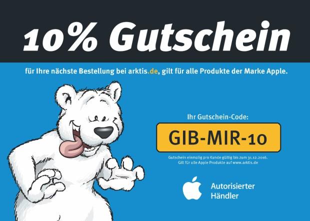 10% Rabatt auf alle original Apple Produkte bei arktis.de