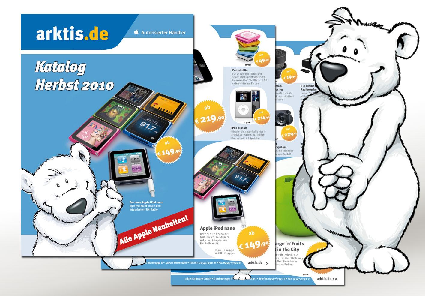 Der neue Arktis Katalog Herbst 2010 - natürlich mit allen neuen iPod Modellen!
