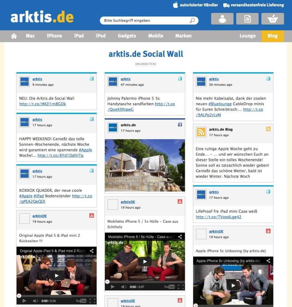 Die arktis.de Social Wall