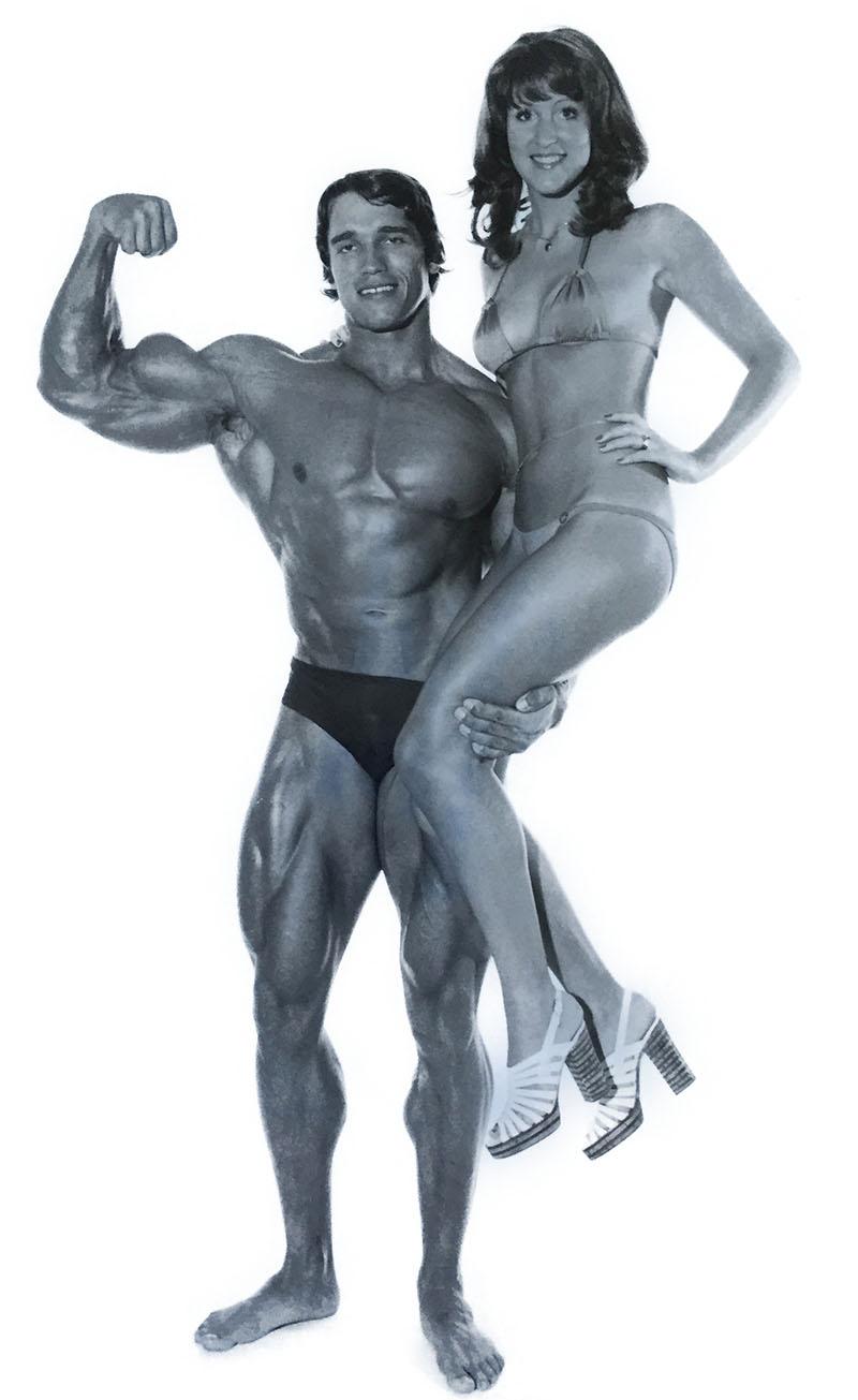 Marion Dahmen zusammen mit Arnold Schwarzenegger