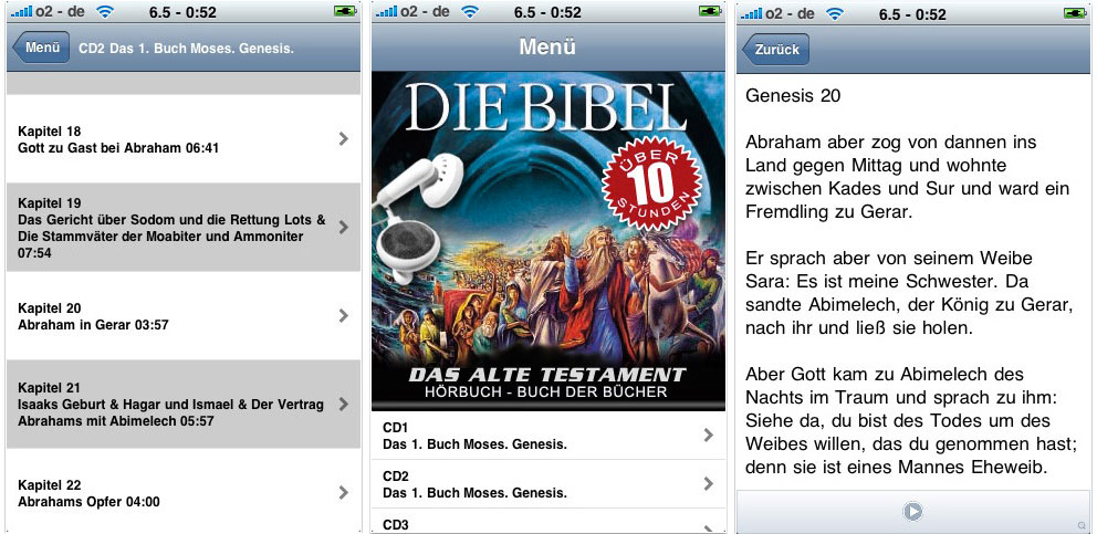 iBibel AT App für das iPhone