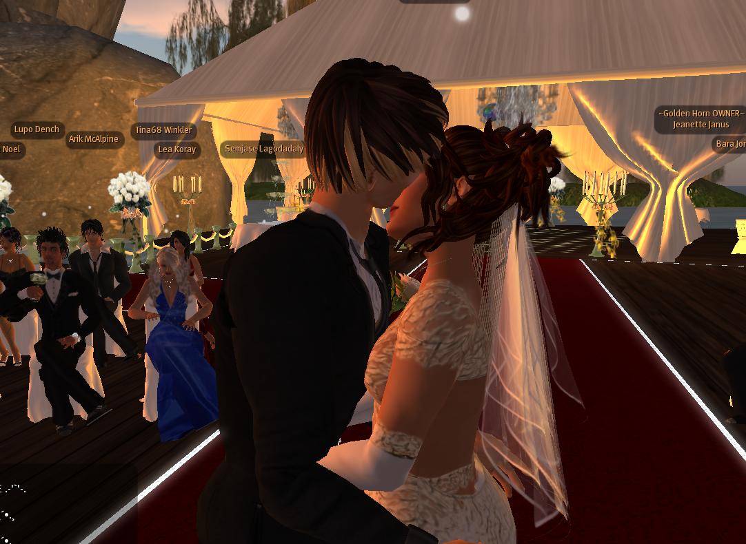 Beim Brautkuss flossen die Tränen...