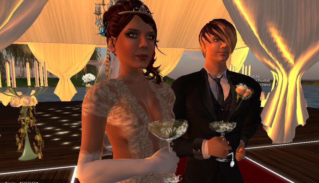 Nicoletta und Horatio. Das virtuell reelle Brautpaar