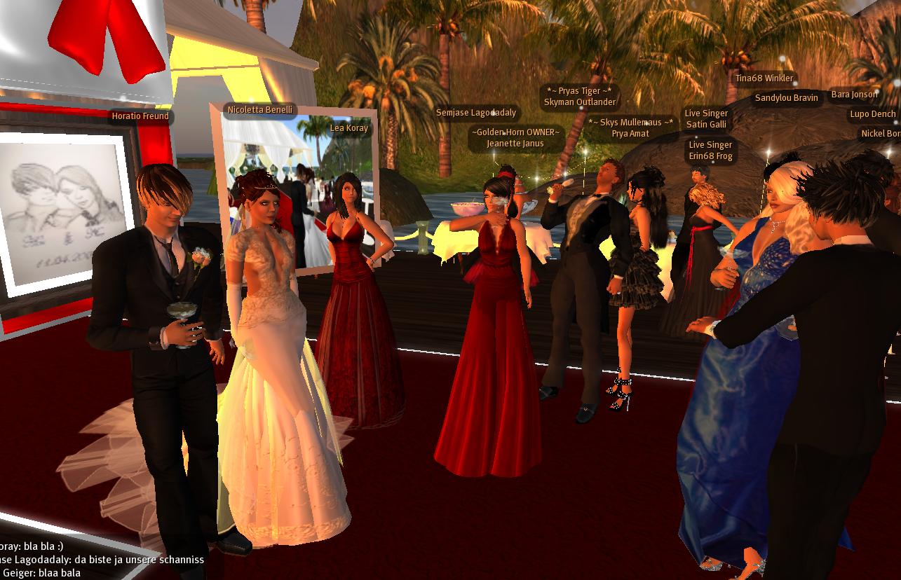 Die Brautjungfern hatten sich farblich abgesprochen :-)