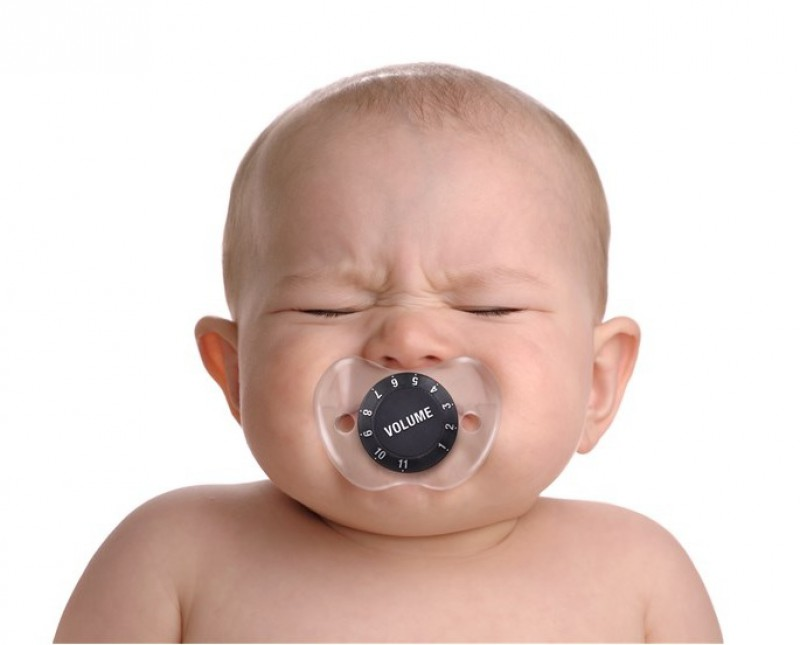 Babyschnuller mit Lautstärkeregler